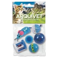 Kit 6 Juguetes para Gatos Azul