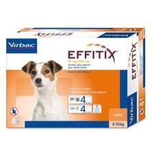 Effitix 4 Pipetas perros 4-10 Kg