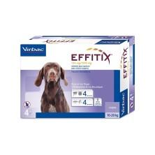 Effitix 4 Pipetas perros 10-20 Kg