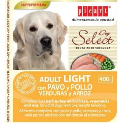 Picart Adult Light con Pavo, Pollo, Verduras y Arroz 400 Gr