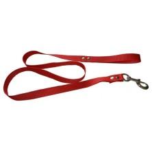 Correa para perro nylon color Rojo 1,40 m