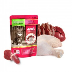 Natures Menu Ternera y Pollo Gato 100 Gr