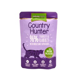 Natures Menu Country Hunter Pavo y Conejo para Gato 85 Gr