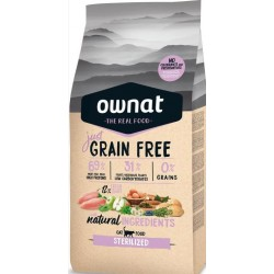 Ownat Just Grain Free Sterilized Gato 8 Kg