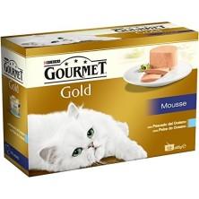 Purina Gourmet Gold Mousse Pescado Océano 12 x 85 g