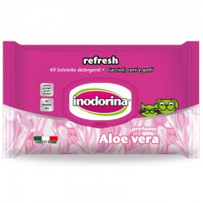 Toallitas Indorina Refresh Aloe Vera, 40 unidades.