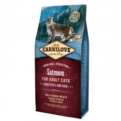 Carnilove Gato Adult Salmón Sensitive Pelo Largo 6 Kg