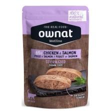 Ownat Pollo y Salmón Esterilizado Pouch para Gatos 85 Gr