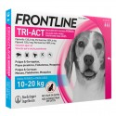 Frontline Tri-Act 10-20 Kg. 3 Pipetas