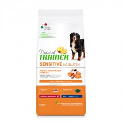 Natural Trainer Sensitive No Gluten Adult Medium & Maxi con Salmón 12 Kg